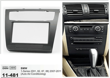 11-481 BMW için Dash Car CD Paneli 1-Series (E81, 82, 87, 88) (Otomatik Klima) Stereo Ön Pano Dash CD Trim Kurulum Kiti